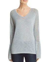 Avec - Pointelle Tie Back Sweater - Lyst