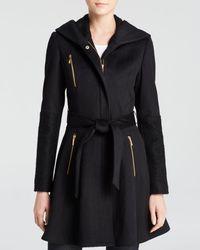 Laundry by Shelli Segal Wool Wrap Coat - Black