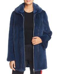 Maximilian X Bibhu Mohapatra Mink Fur Coat - Blue