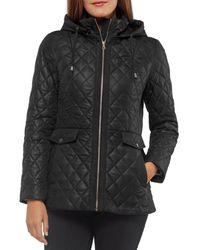 Kate Spade Quilted Hooded Jacket - Black