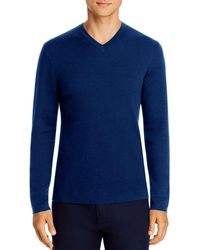 Theory Detroe Milos V - Neck Sweater - Blue