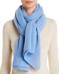 C By Bloomingdale's Oversized Cashmere Travel Wrap - Blue