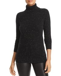 C By Bloomingdale's Cashmere Turtleneck Sweater - Black