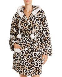 Pj Salvage Cosy Hooded Robe - Multicolour