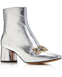 Marc Jacobs - Women's Remi Leather & Chain Link Ankle Booties - Lyst