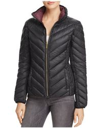 MICHAEL Michael Kors - Missy Short Chevron Packable Down Coat - Lyst
