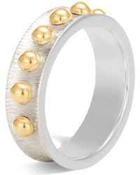 John Hardy - 18k Yellow Gold And Sterling Silver Dot Band Ring - Lyst