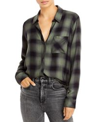 Rails Hunter Plaid Button Down Shirt - Black