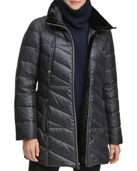 Marc New York Shirley Hooded Faux Fur Trim Parka - Black