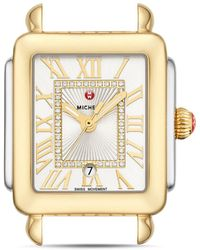 Michele - Deco Madison Mid Two - Tone Diamond Dial Watch Head - Lyst