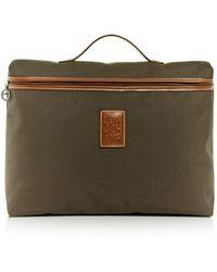 Longchamp Boxford Canvas Briefcase - Brown