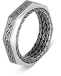John Hardy 'asli Classic Chain' Sterling Silver Band Ring - Metallic