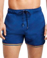 2xist 2(x)ist Jogger Rainbow - Trimmed Swim Shorts - Blue