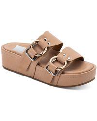 Dolce Vita Cici Slip On Platform Sandals - Brown