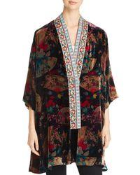 Johnny Was - Fusai Velvet Kimono - Lyst