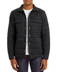 Alpha Industries Quilted Utility Shirt Jacket - Black