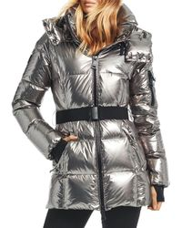 Sam. - Soho Gunmetal Belted Down Coat - Lyst