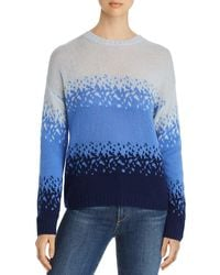 C By Bloomingdale's - Ombré Jacquard Cashmere Sweater - Lyst