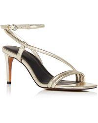 Rebecca Minkoff Women's Nanine Dancing Shoe High - Heel Sandals - Metallic