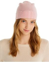 C By Bloomingdale's Waffle Knit Cashmere Hat - Multicolour