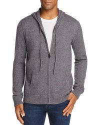 Bloomingdale's Cashmere Full Zip Hoodie - Gray
