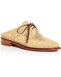 Robert Clergerie - Women's Jaly Raffia Lace Up Mules - Lyst