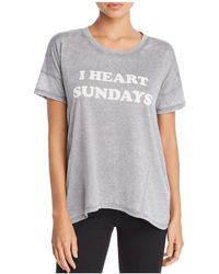 Pj Salvage - I Heart Sundays Tee - Lyst