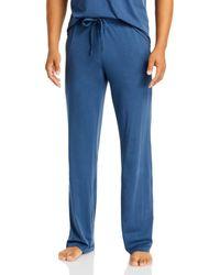 Daniel Buchler Peruvian Pima Cotton Lounge Trousers - Blue