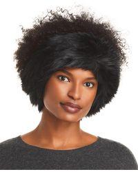 Surell Fox Faux Fur Headband - Black