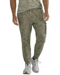 ATM Cotton French Terry Abstract Camo Regular Fit Jogger Pants - Green