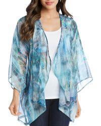 Karen Kane - Printed Kimono Jacket - Lyst