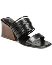 Via Spiga Women's Mariam Wedge Heel Sandals - Black