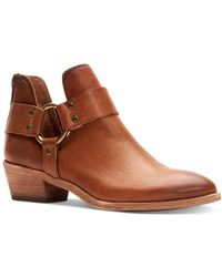 Frye Women's Ray Harness Booties - Brown