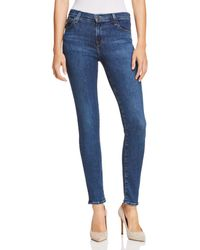J Brand - 811 Mid Rise Skinny Jeans In Moral - Lyst