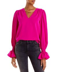 Aqua Puff Sleeve Top - Pink