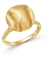Marco Bicego - 18k Yellow Gold Ring With Diamonds - Lyst