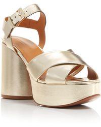 Robert Clergerie Women's Viane Leather High-heel Platform Sandals - Metallic
