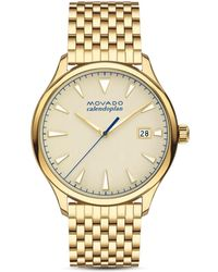 Movado Heritage Yellow Gold Ion-plated Stainless Steel Bracelet Watch - Metallic