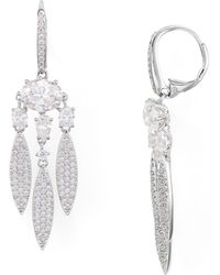 Nadri - Pavé Chandelier Earrings - Lyst