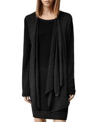 AllSaints - Drina Draped Layer Dress - Lyst