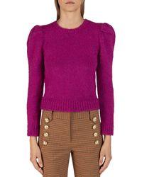 10 Crosby Derek Lam Puff Sleeve Jumper - Purple