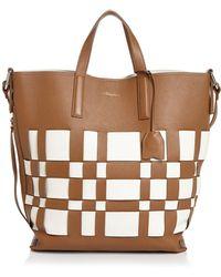 3.1 Phillip Lim Odita Modern Large Lattice Leather Shop Tote - Multicolour