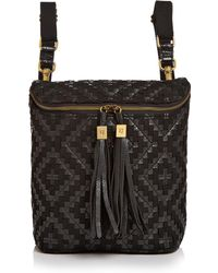 Eric Javits Kaja Medium Woven Leather Backpack - Black