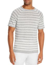 Bloomingdale's Linen Striped Shirt - White