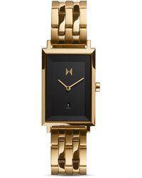 MVMT Mason Gold-tone Stainless Steel Bracelet Watch 24mm - Metallic