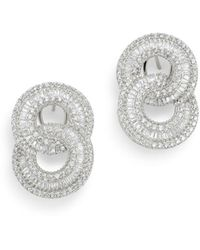 Bloomingdale's Diamond Interlocking Circle Drop Earrings In 14k White Gold