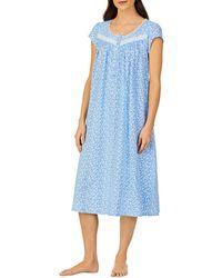 Eileen West Floral Ballet Nightgown - Blue