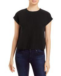 Bloomingdale's Eileen Fisher Silk Cap Sleeve Top - Black