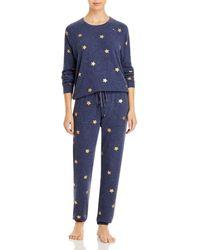 Aqua Star Print Pyjama Set - Blue
