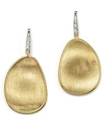 Marco Bicego - 18k Yellow Gold And Diamond Lunaria Drop Earrings - Lyst